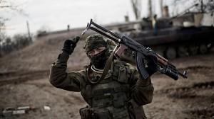 После ударов украинской артиллерии часть боевиков отошла от Логвиново
